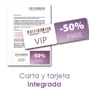 Tarjetas integradas en carta